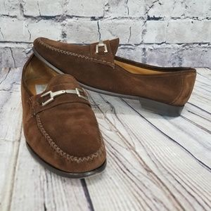 Mezlan Morella Mens 10M Brown Suede Slip On loafer